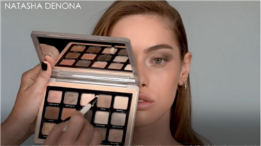 Natasha Denona | How-To Tutorial: Soft Smokey Look using the must-have GLAM EYESHADOW PALETTE